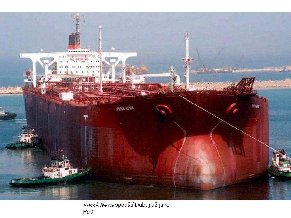 Knock Nevis opouští Dubaj už jako FSO