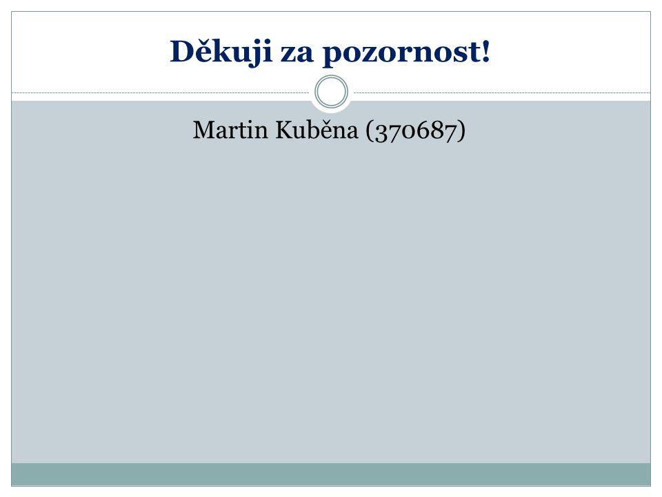 Děkuji za pozornost! Martin Kuběna (370687)