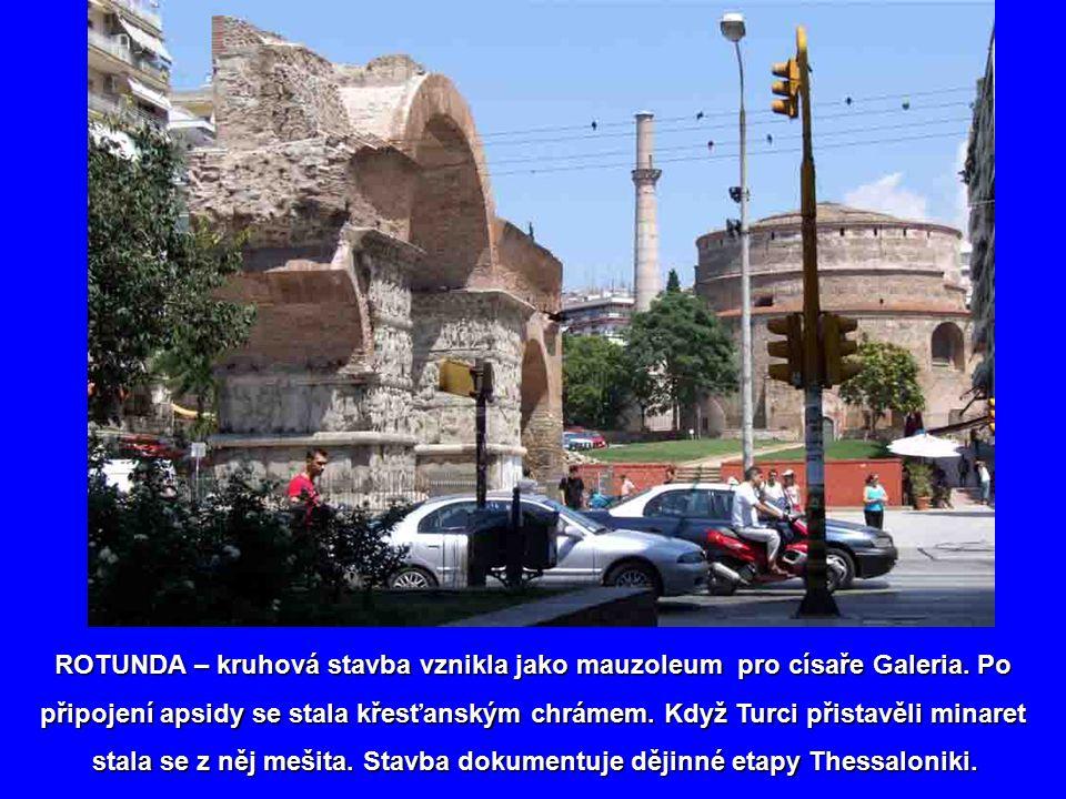 Do historie můžeme vstoupit Galeriovo obloukem Galeriovo obloukem vystavěným v době Římanů vystavěným v době Římanů na počest vítězství nad Peršany. n