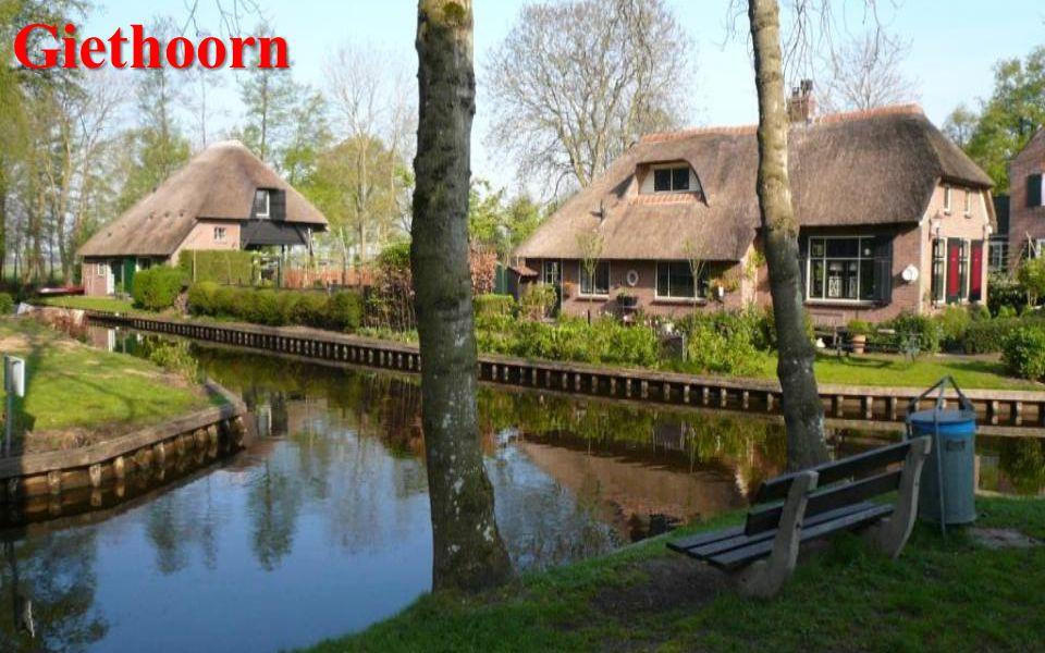 Zaanse Schans Součástí vesnice Zaanstad je skanzen typických severoholandských zelenobílých dřevěných domů a mlýnů s původními dílnami na výrobu dřeváků, sýrů, dále pekárna a specializované obchůdky.