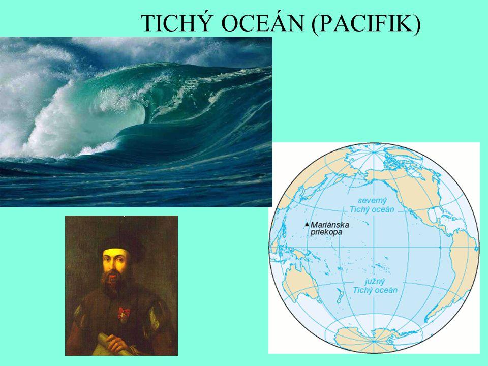 Najdi na mapě – DÚ 1.Kterými světadíly je Tichý oceán ohraničen.