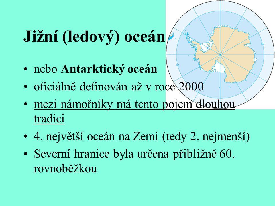 SEVERNÍ LEDOVÝ OCEÁN Nejmenší a nejchladnější Arktický klimatický pás (SP – R.