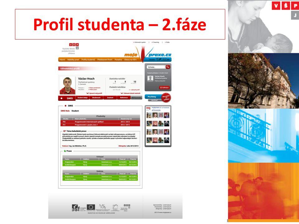 Profil studenta – 2.fáze