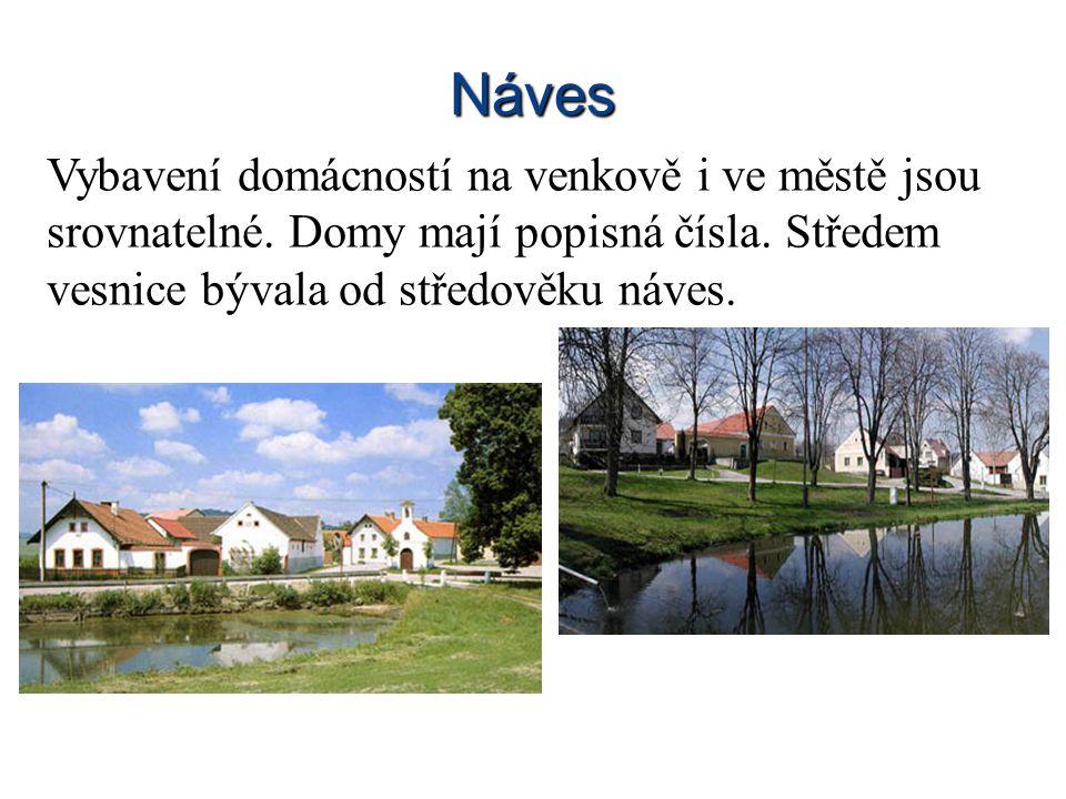 Životní prostředí Obyvatelé vesnic žijí blíž přírodě.