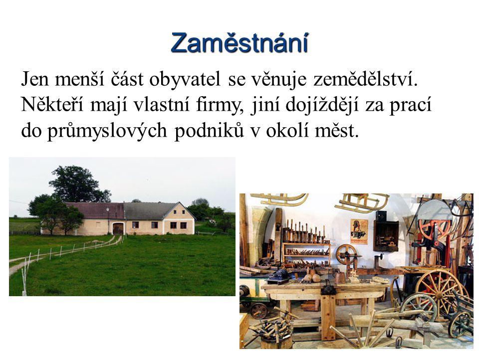 Občanská vybavenost Ve vesnicích je obecní úřad a obchod, ve větších je základní škola, pošta, knihovna.