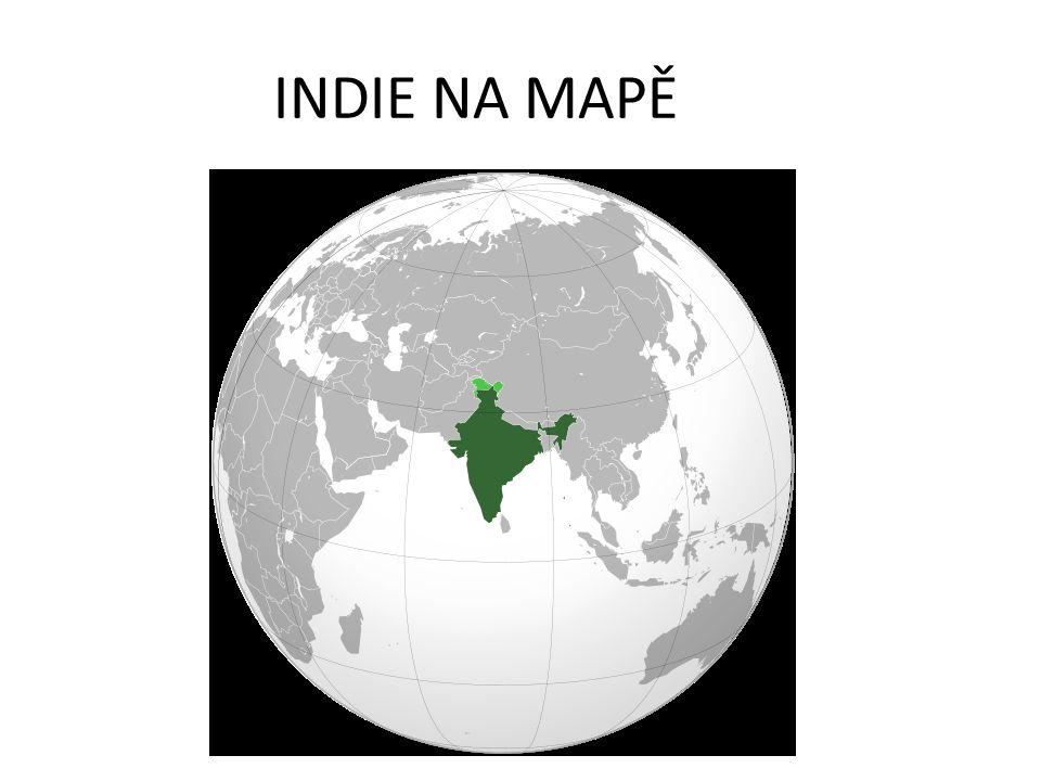 POVRCH INDIE Geologicky lze povrch Indie rozdělit od jihu k severu na tři hlavní části: stará centrální krystalická Dekánská plošina, Indoganžská nížina a velehorská oblast na severu.