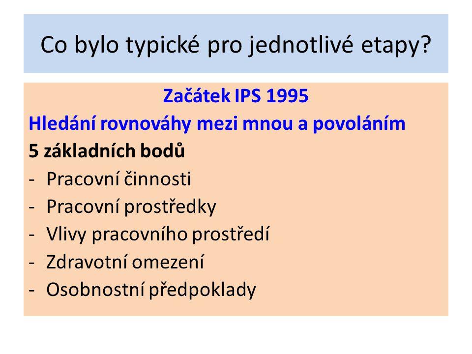 5 center Další vykročení IPS vůči ZŠ Co je rozpracované.
