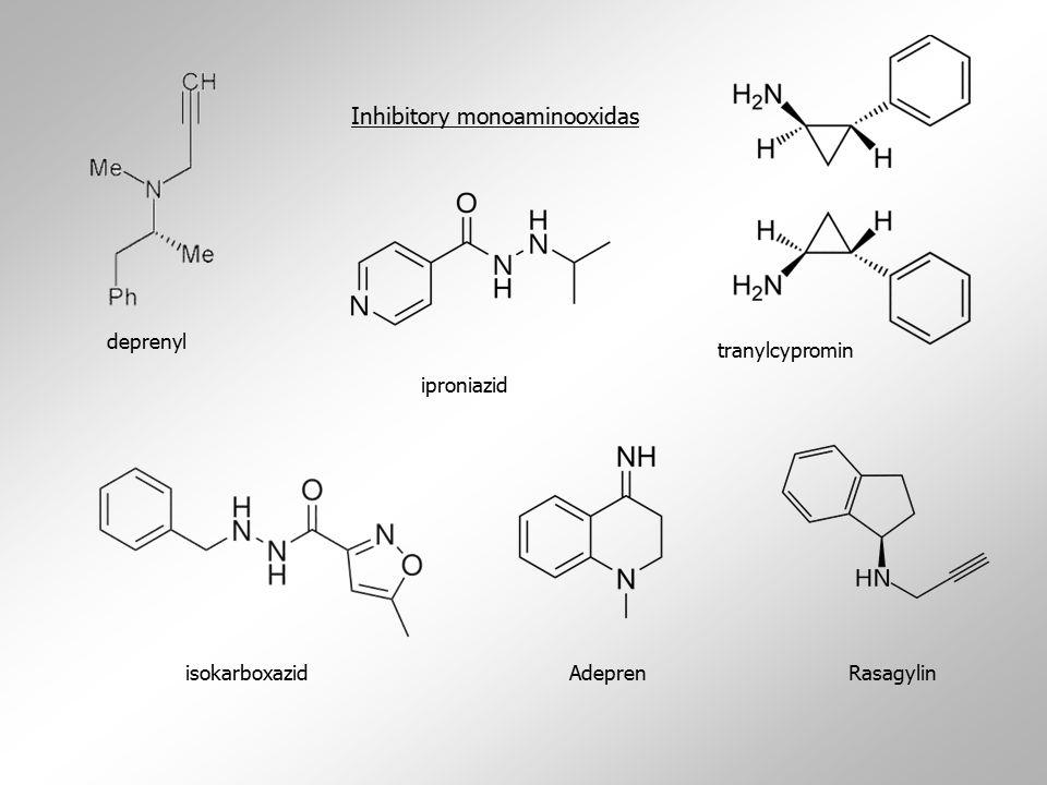 tranylcypromin Inhibitory monoaminooxidas iproniazid isokarboxazidAdeprenRasagylin