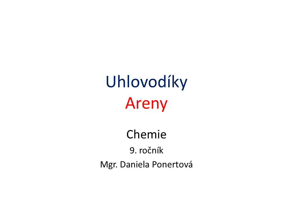 Uhlovodíky Areny Chemie 9. ročník Mgr. Daniela Ponertová