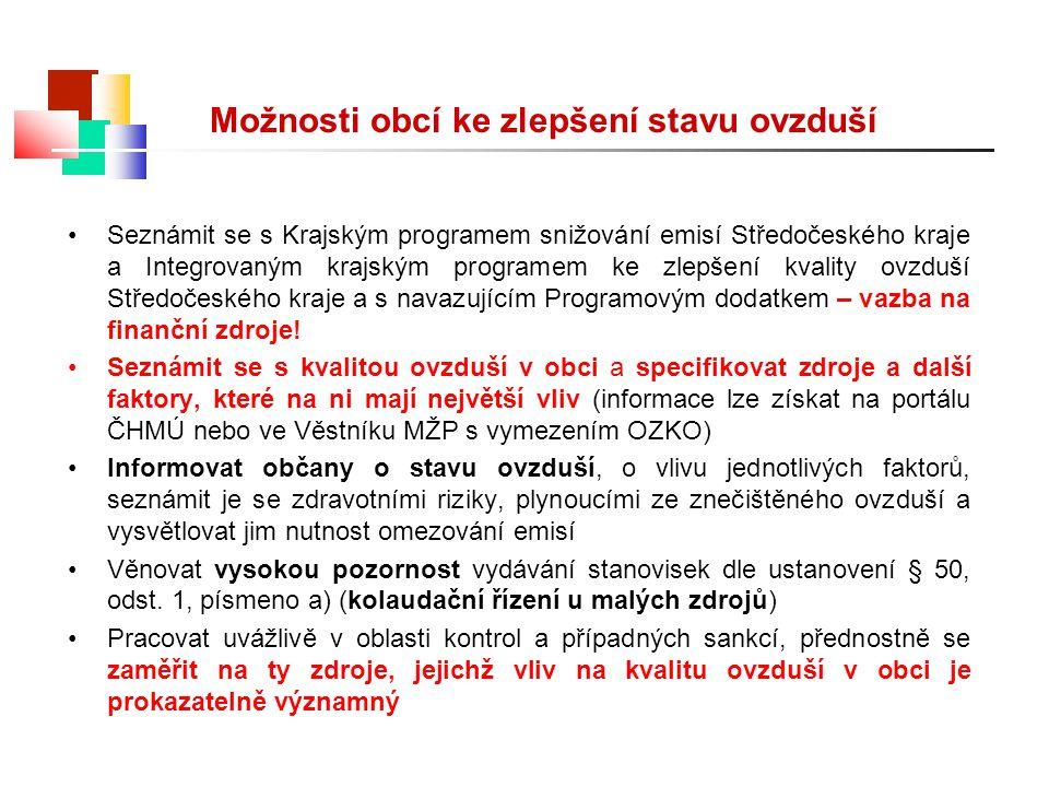 Seznámit se s Krajským programem snižování emisí Středočeského kraje a Integrovaným krajským programem ke zlepšení kvality ovzduší Středočeského kraje