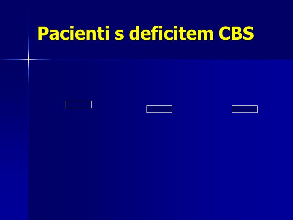 Pacienti s deficitem CBS