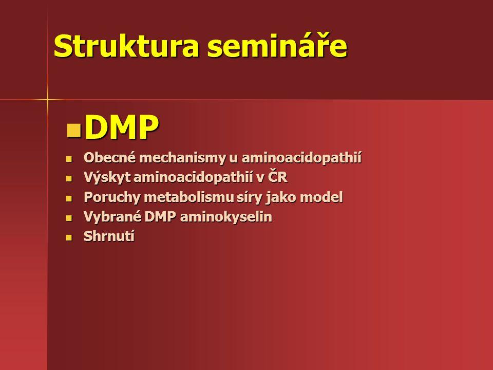 DMP- příčiny a důsledky produkt Substrát