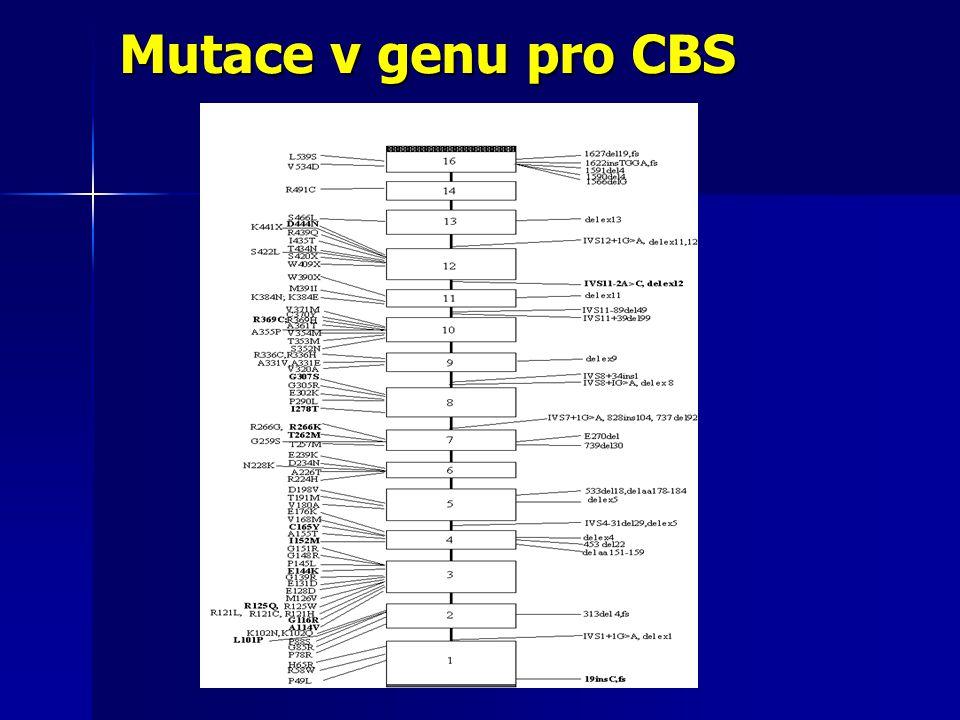 Mutace v genu pro CBS