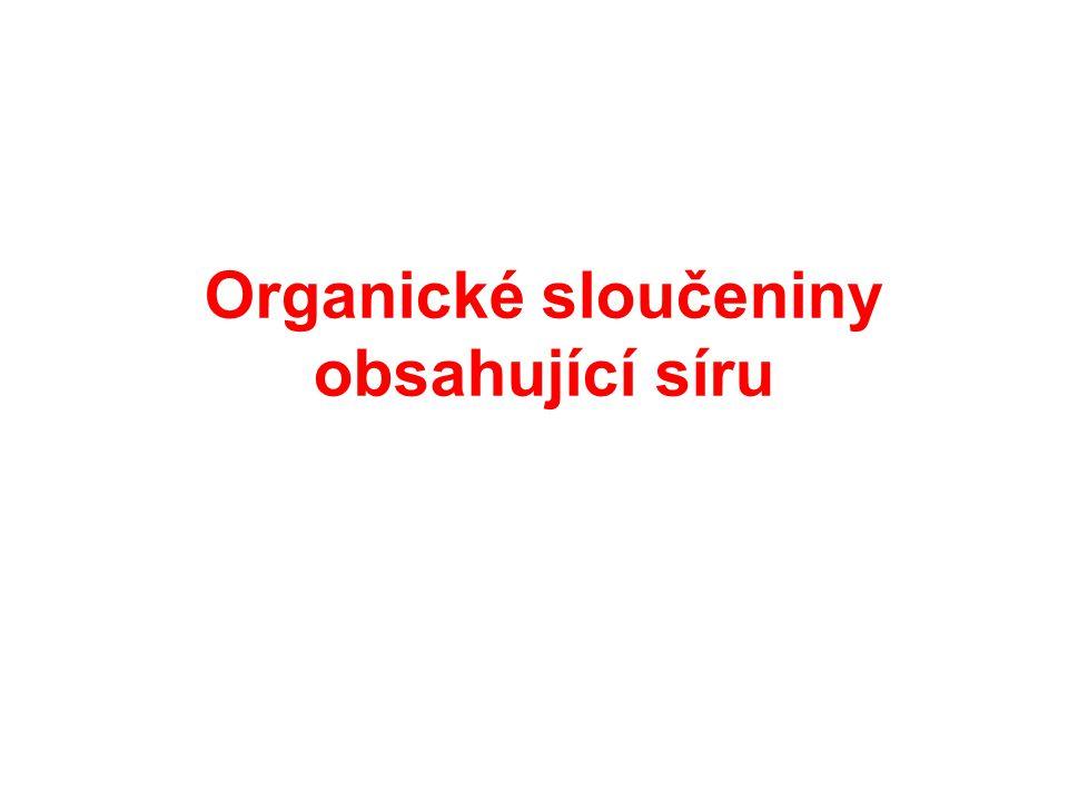 Organické sloučeniny obsahující síru