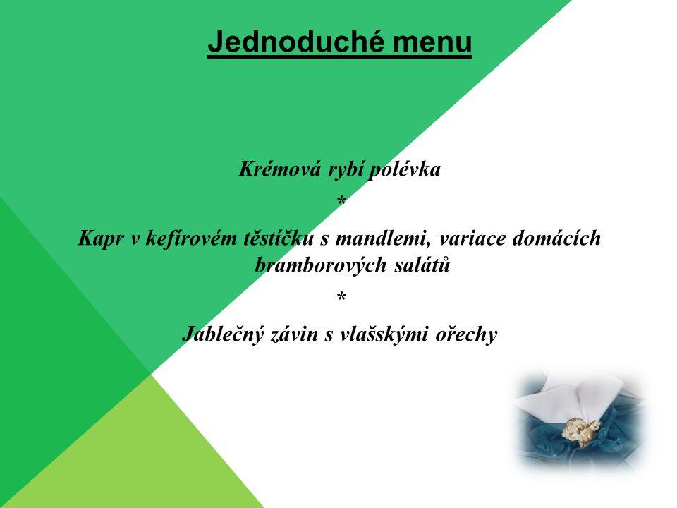 Jednoduché menu Hovězí vývar s domácími nudlemi * Zapečený chřest se šunkou a sýrem * Srnčí medailonky se švestkovou omáčkou, karlovarský knedlík, bramborové placky