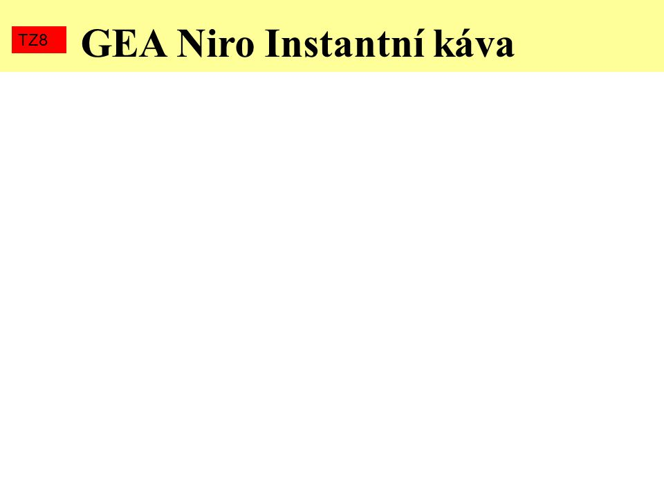 GEA Niro Instantní káva TZ8