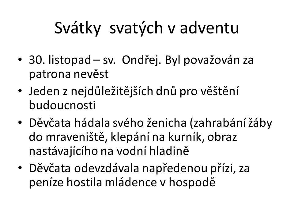 Svátky svatých v adventu 4.prosince – sv.