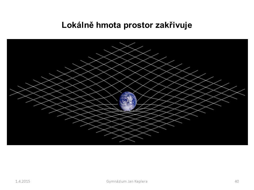 1.4.2015Gymnázium Jan Keplera40 Lokálně hmota prostor zakřivuje