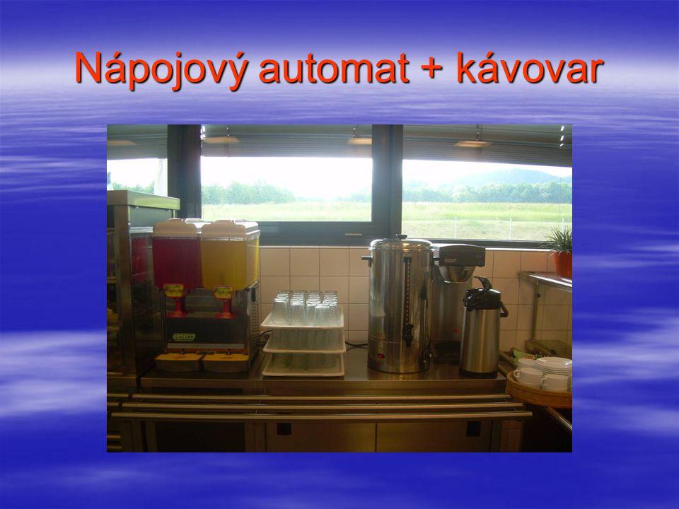 Nápojový automat + kávovar