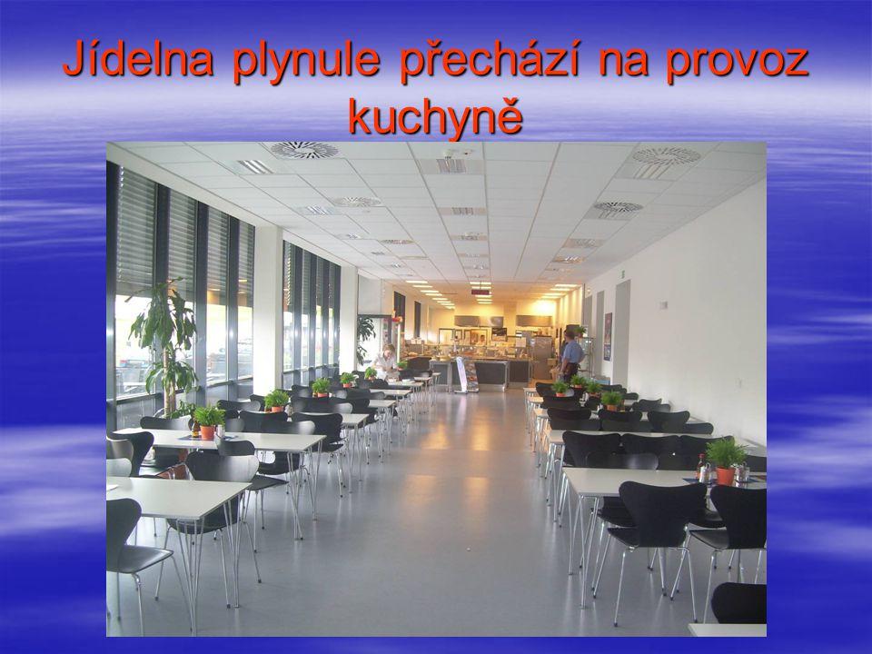 Vzorová vitrína (vystaveny jídla na daný den tak, aby nedocházelo k reklamaci objednané stravy)