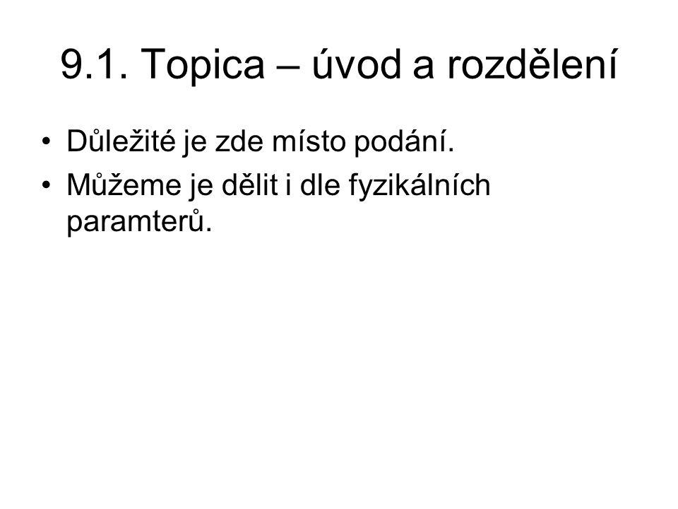 9.1.Topica – úvod a rozdělení Důležité je zde místo podání.