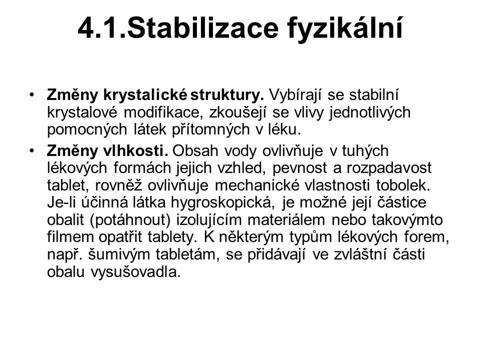 4.1.Stabilizace fyzikální Změny krystalické struktury.