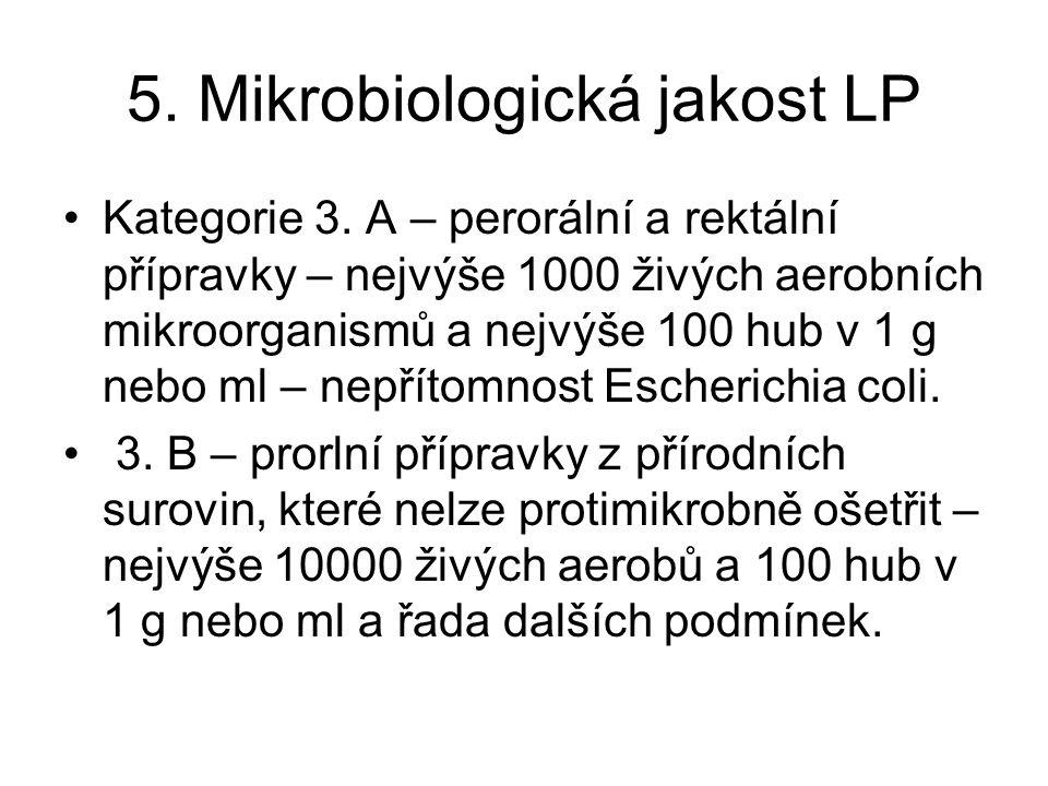 5.Mikrobiologická jakost LP Kategorie 3.