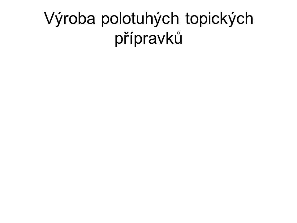 Výroba polotuhých topických přípravků