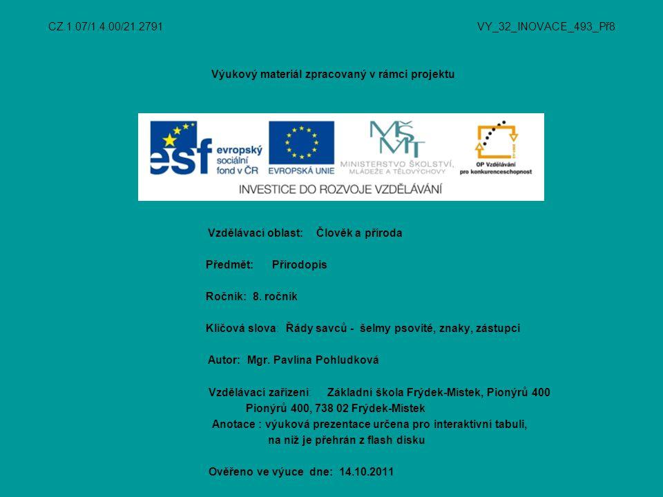www.wikipedie.cz www.naturfoto.cz http://zstrebivlice.blog.cz/0603/referat- prirodopis-selmy http://vercaska.blog.cz/0706/selmy-psovite http://www.wildafrica.cz/cs/zvire/pes- hyenovy/