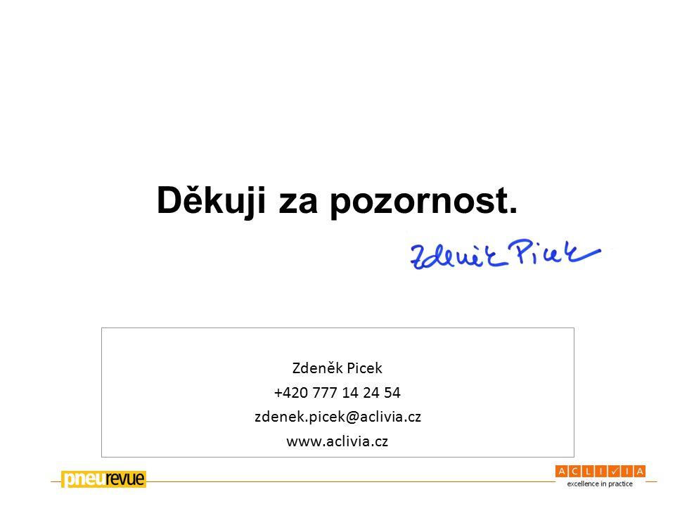 Děkuji za pozornost. Zdeněk Picek +420 777 14 24 54 zdenek.picek@aclivia.cz www.aclivia.cz