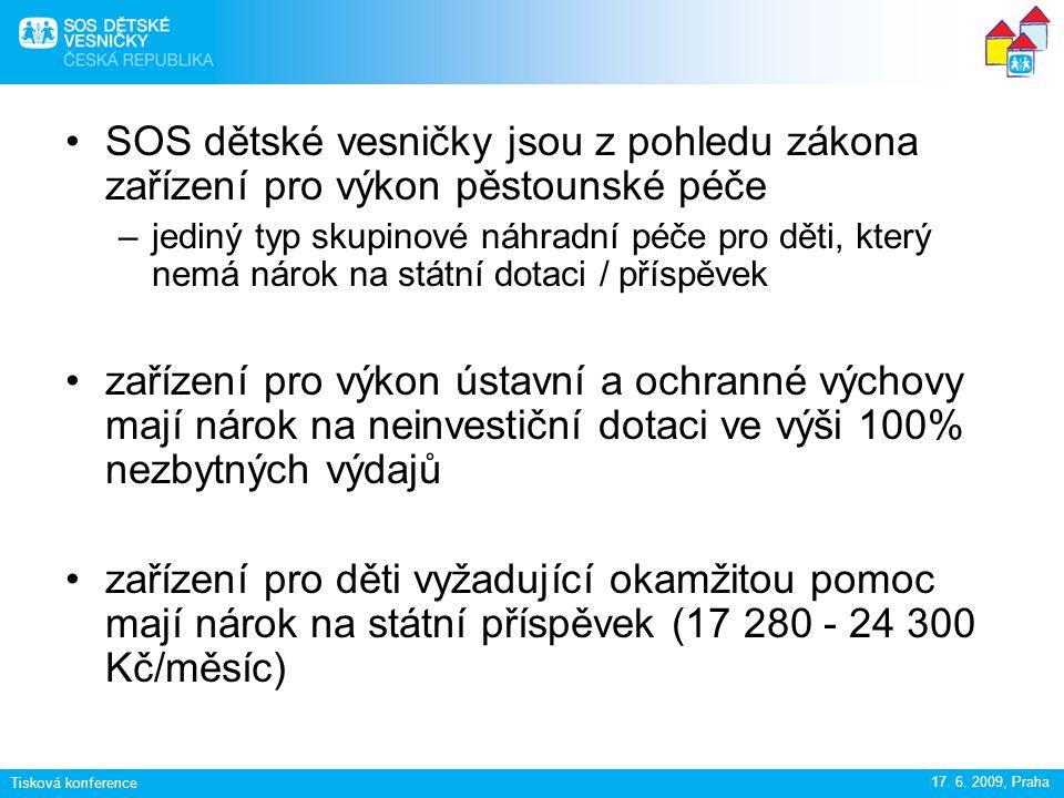 Tisková konference 17.6. 2009, Praha v listopadu 2008 vládou schválen tzv.