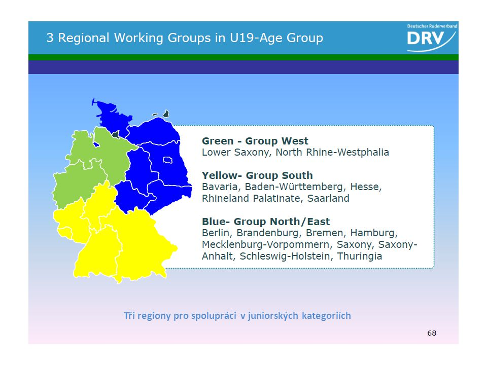 Tři regiony pro spolupráci v juniorských kategoriích