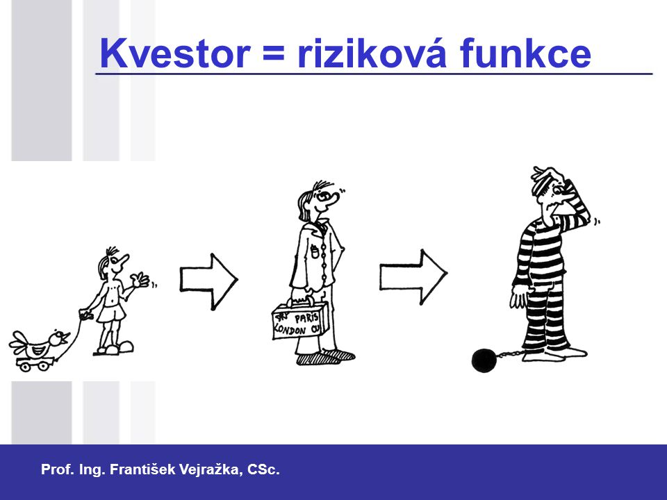Prof. Ing. František Vejražka, CSc. Kvestor = riziková funkce