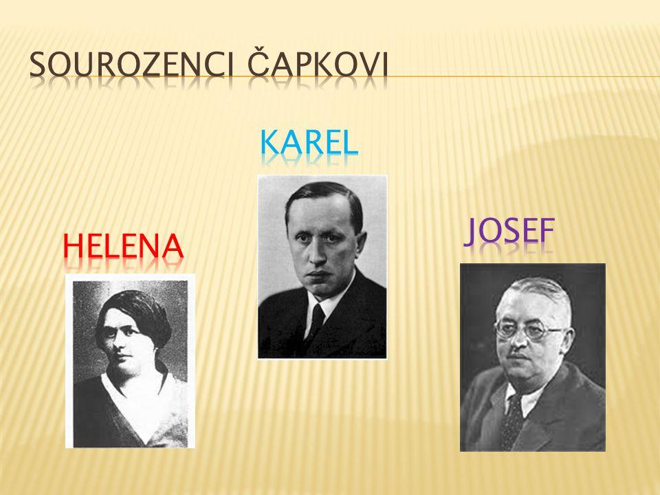 Za jeho pobytu v Brně, Čapkovi rodiče prodali dům v Upici a přestěhovali se do Prahy.