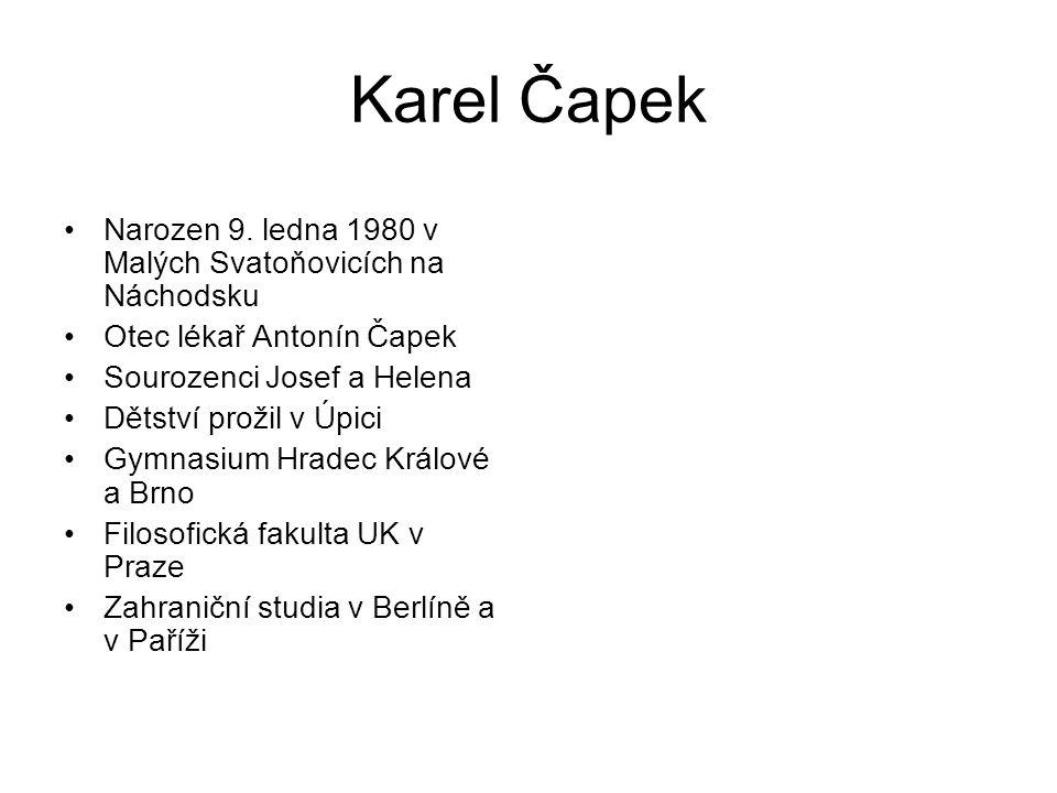 Karel Čapek Narozen 9.