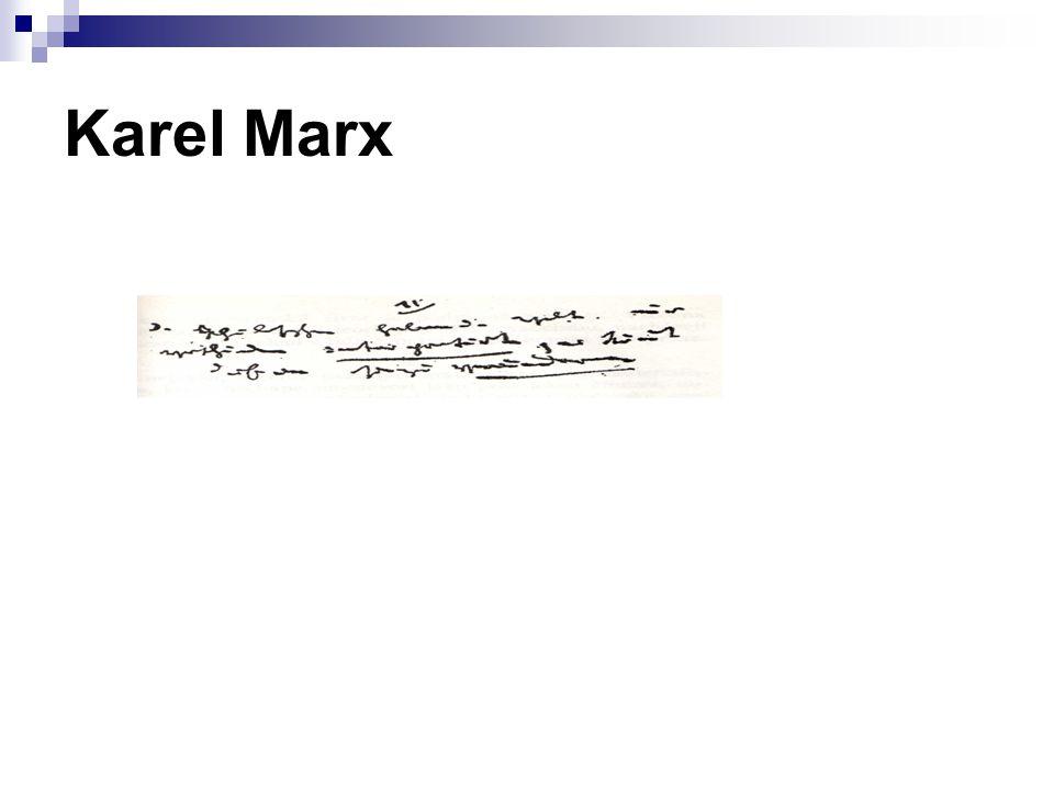Několik ukázek z výroků Karla Marxe, které lze dobře číst (dešifrovat) prostřednictvím typizovaných projevů INTJ.