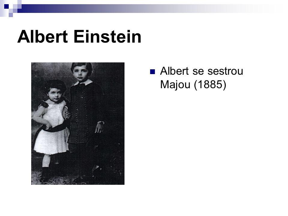 Albert Einstein Albert Einstein v roce 1914 (pětatřicetiletý)