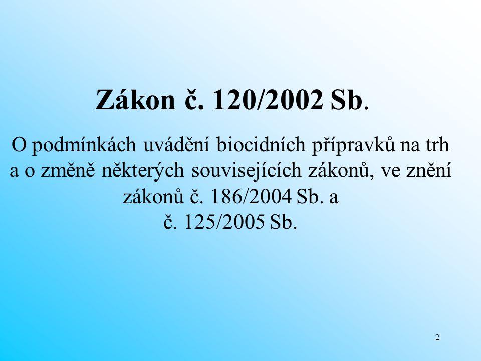 23 Balení a označování biocidních přípravků Podle § 19 – 22 zákona č.