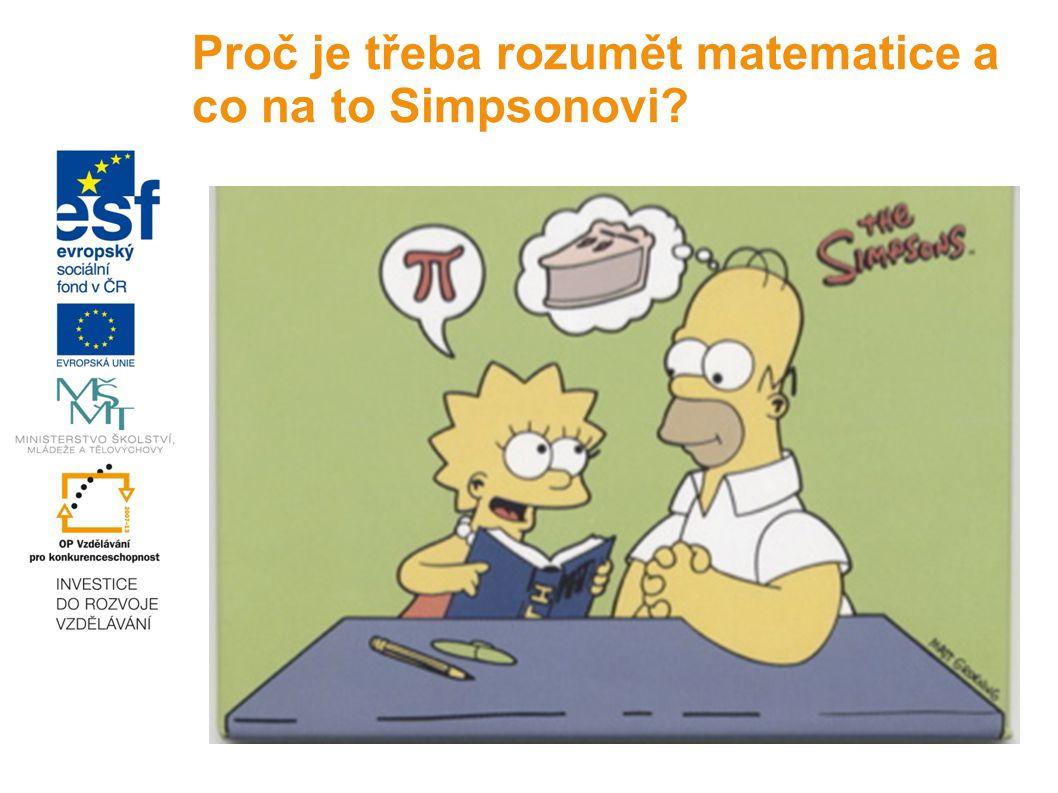 Proč je třeba rozumět matematice a co na to Simpsonovi?