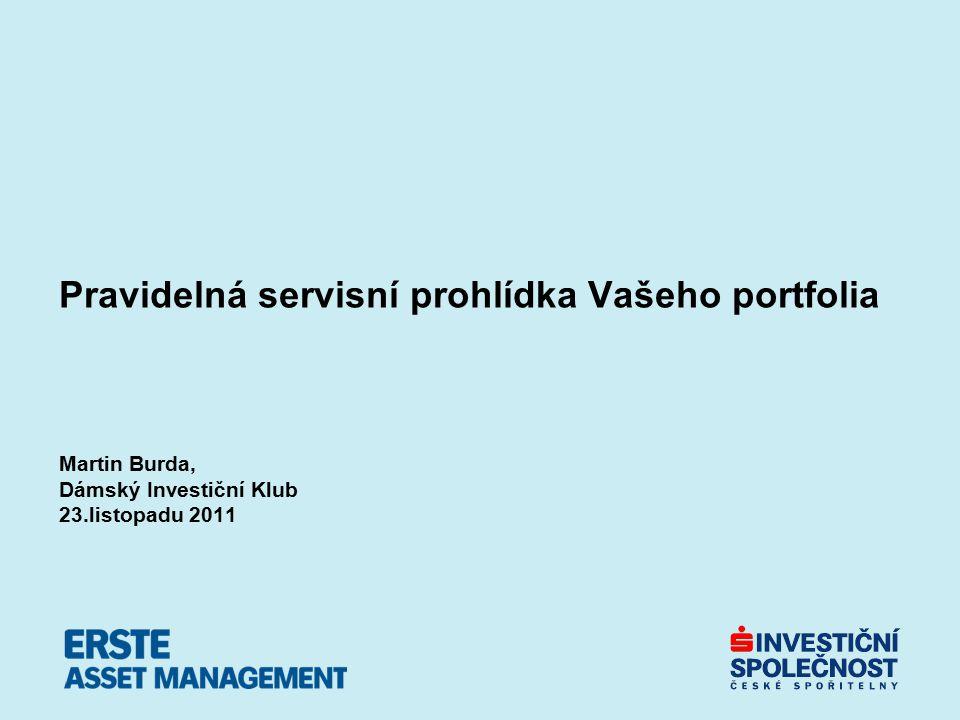 Pravidelná servisní prohlídka Vašeho portfolia Martin Burda, Dámský Investiční Klub 23.listopadu 2011