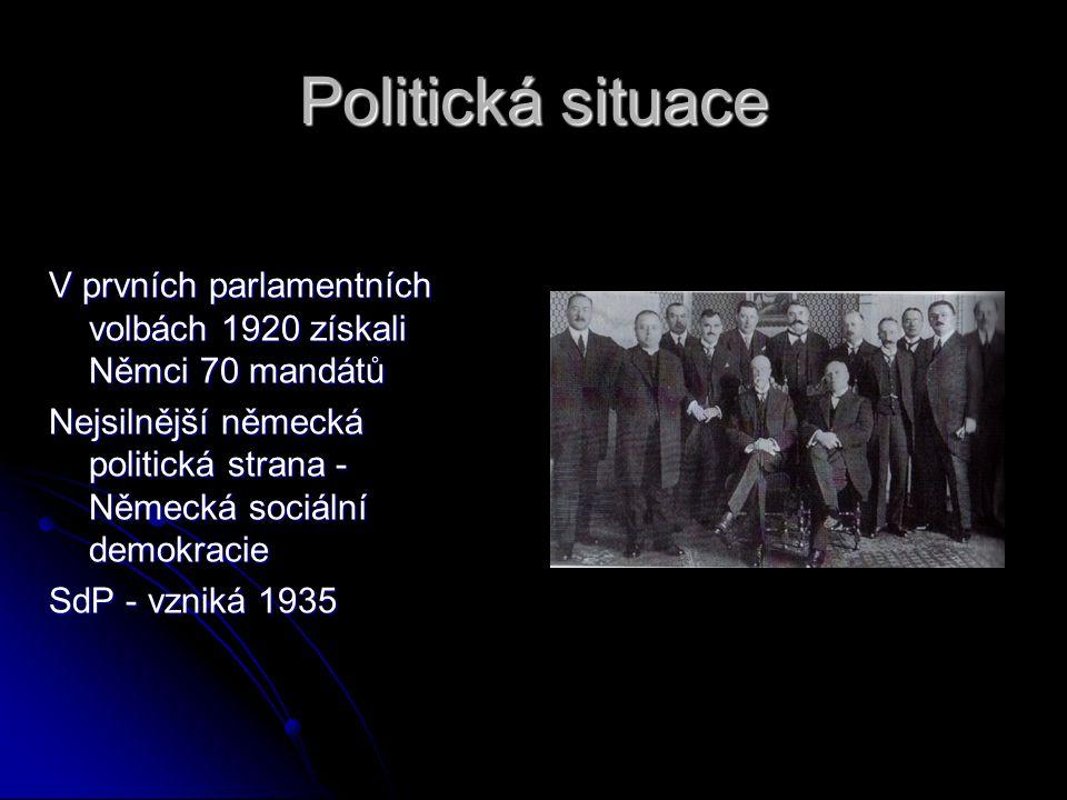 """Postavení Němců v Československu Němci byli považováni za rovnocennou skupinu, tvořili ¼ obyvatelstva Masaryk je označil jako """"německy mluvící Čechosl"""