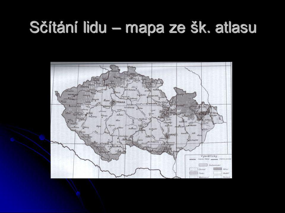 Národnostní složení ve 30. letech Největší podíl německého obyvatelstva byl v pohraničí + okolí Litomyšle a Jihlavy