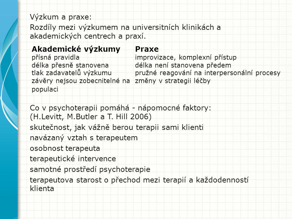 Výzkum a praxe: Rozdíly mezi výzkumem na universitních klinikách a akademických centrech a praxí.