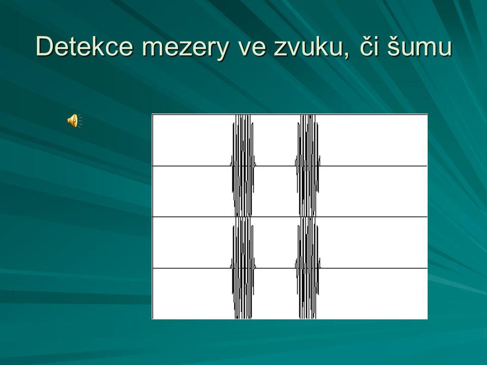 Detekce mezery ve zvuku, či šumu