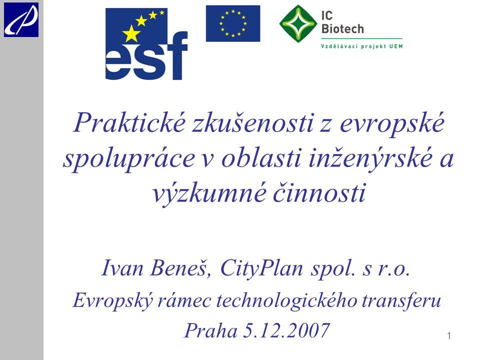 1 Ivan Beneš, CityPlan spol. s r.o.