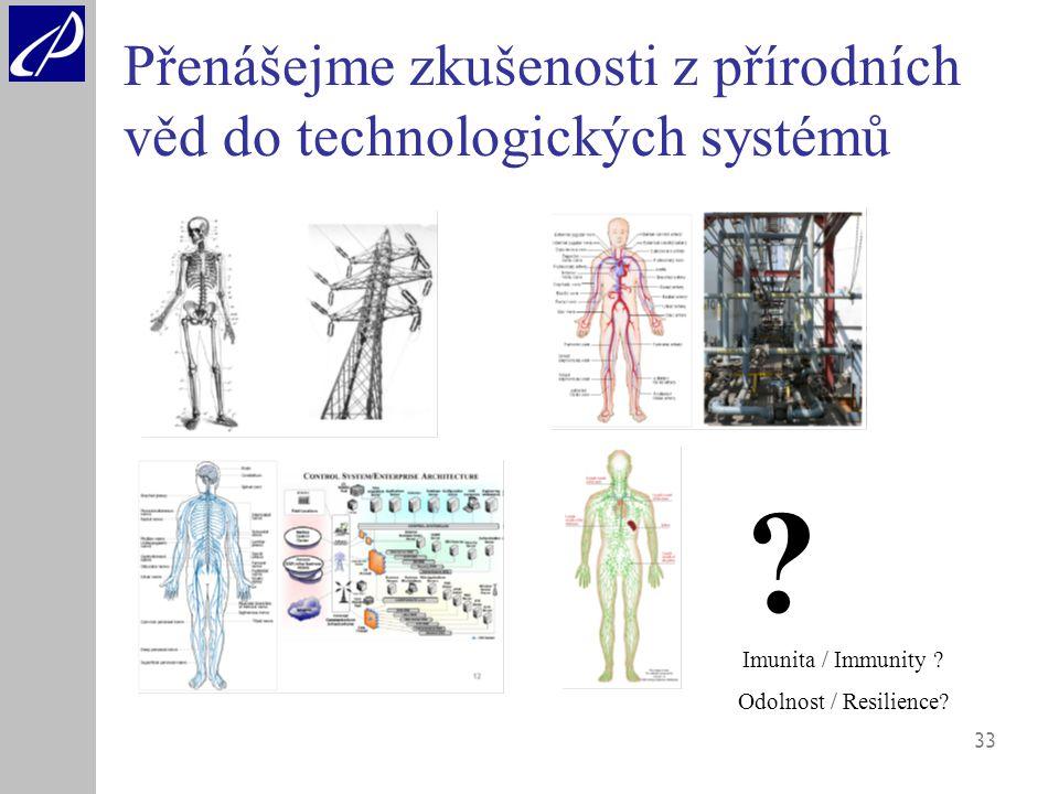 33 Přenášejme zkušenosti z přírodních věd do technologických systémů .