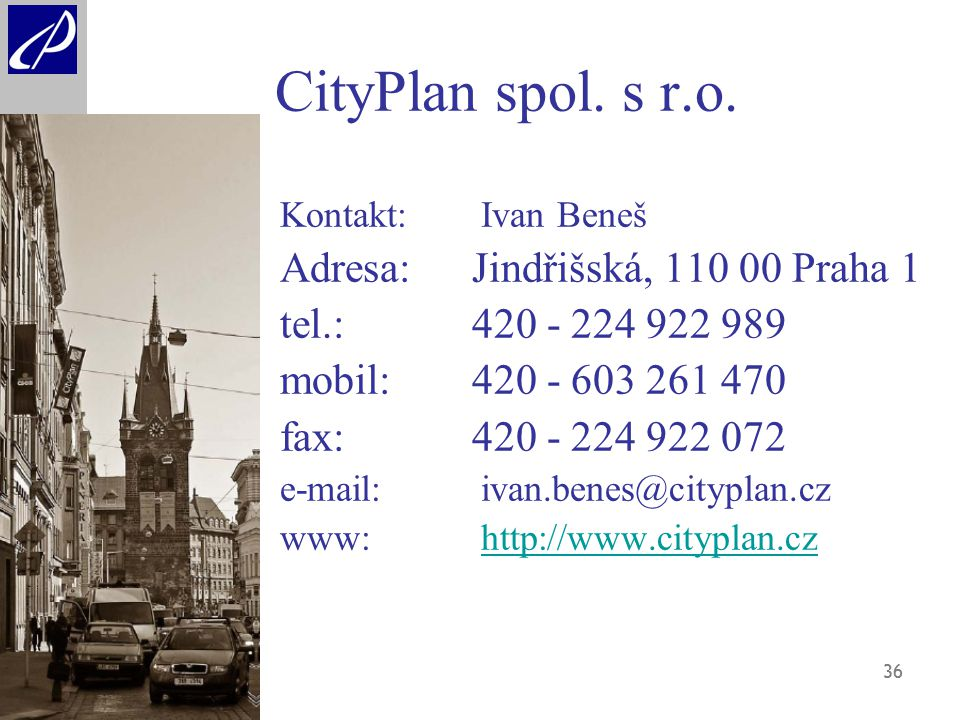 36 CityPlan spol. s r.o.