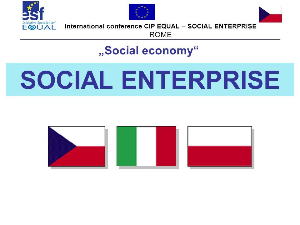 International conference CIP EQUAL – SOCIAL ENTERPRISE ROME December 2007