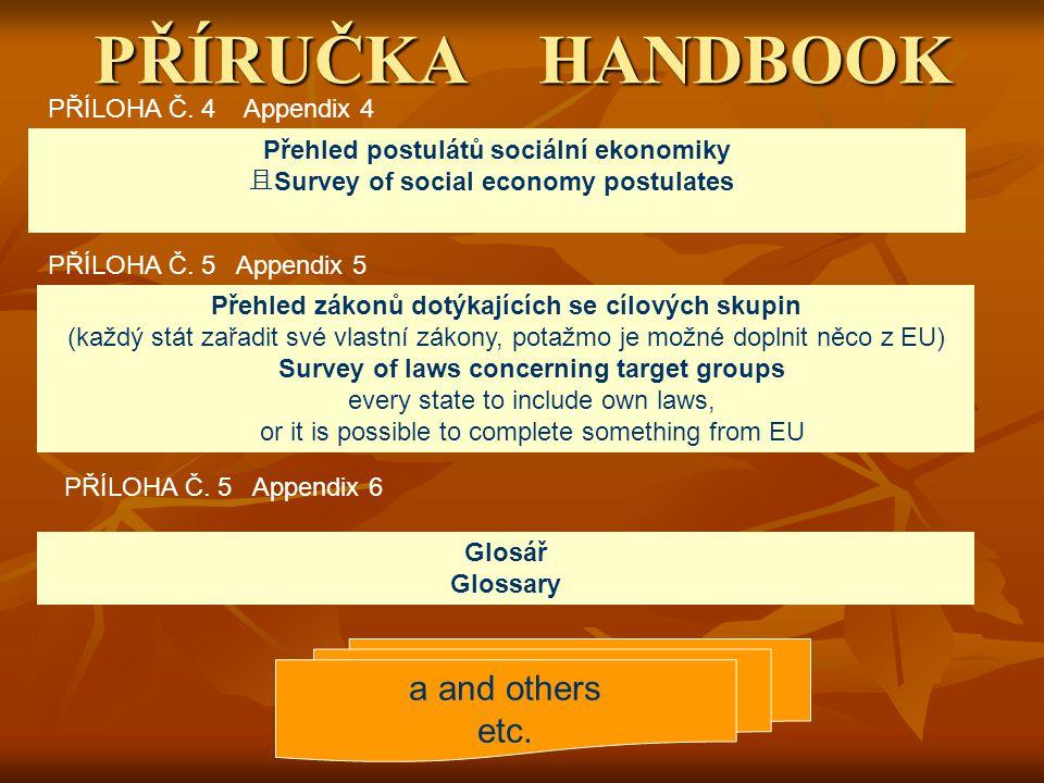 PŘÍRUČKA HANDBOOK PŘÍLOHA Č. 4 Appendix 4 PŘÍLOHA Č.