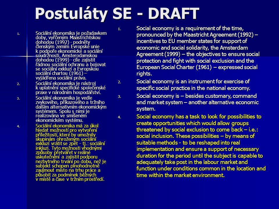 Postuláty SE - DRAFT 1.